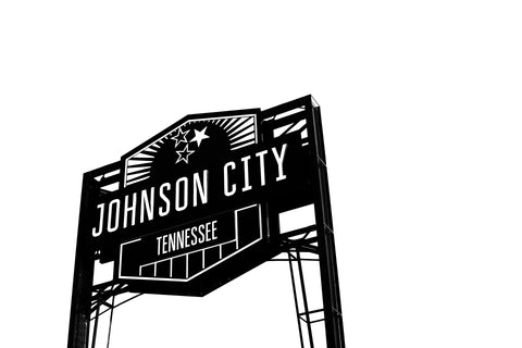 Johnson City, Tennessee sign. Home of Red Eye Bistro. Photo by Drew Beamer.