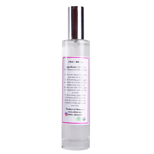 Organic rose water spray