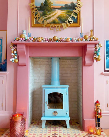 Baby Blue Fireplace