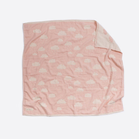 Cotton Bassinet Blanket : Clouds Pink Blanket North Star Baby