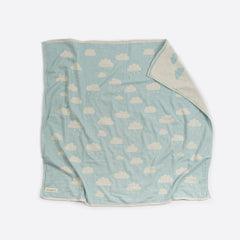 Cotton Cot Blanket : Clouds Mint Blanket North Star Baby