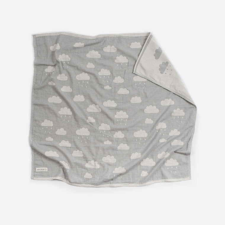 Cotton Blanket : Clouds Grey