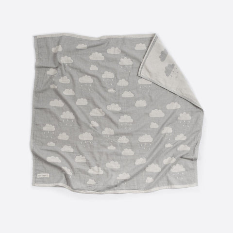 Cotton Bassinet Blanket : Clouds Grey Blanket North Star Baby