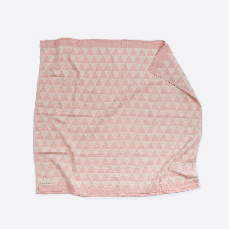Cotton Cot Blanket : Pink Hills