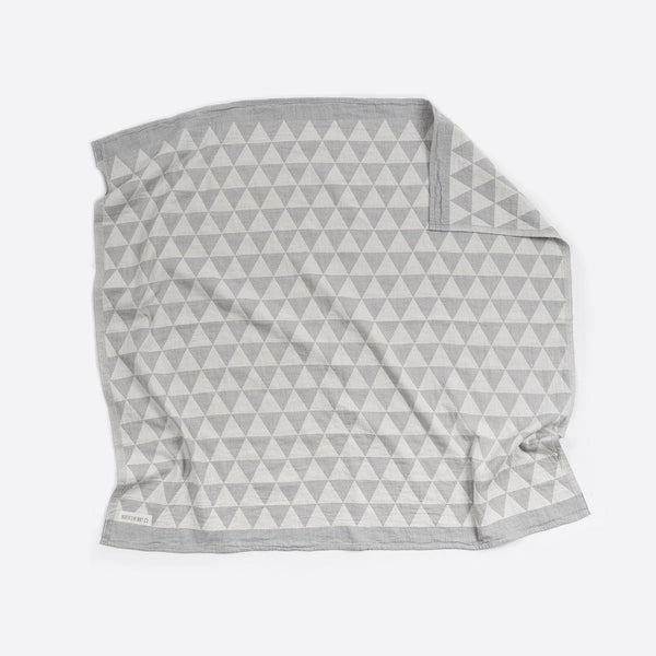 Cotton Blanket : Hills Grey