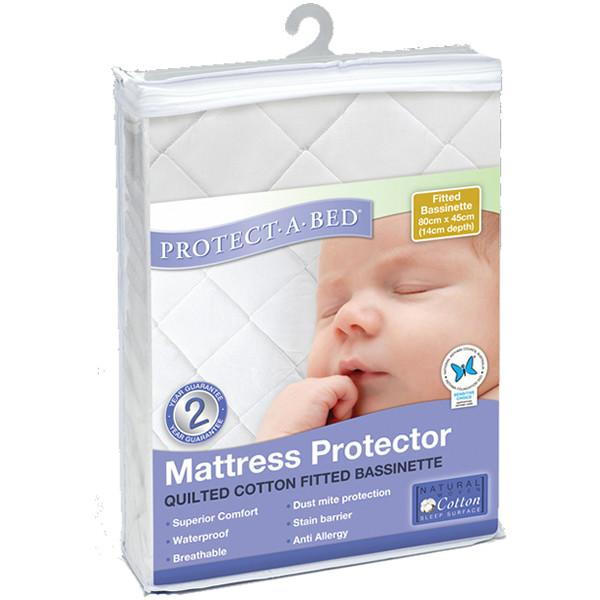 Protect A Bed Bassinet Cotton Quilted Fitted