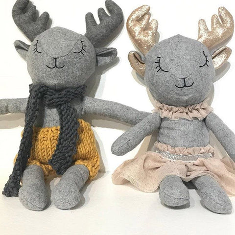 Bessie Deer - handmade felted wool toy Toys and the little dog laughed