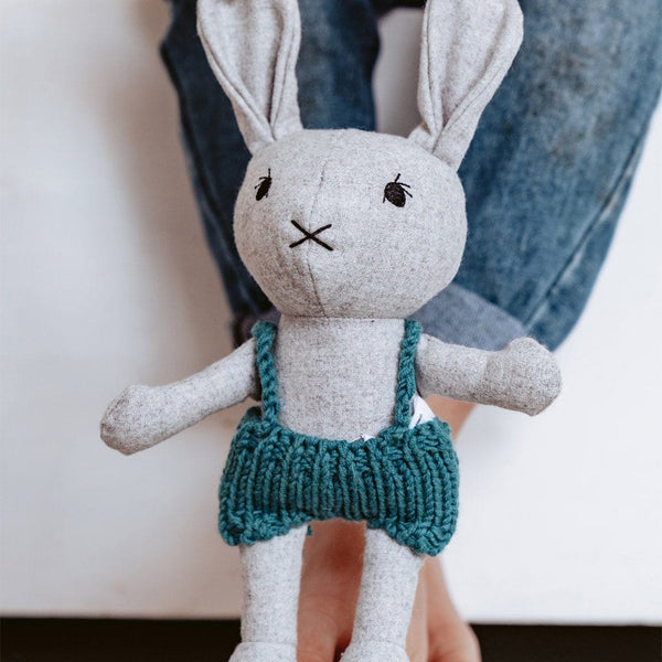 Lionel the Rabbit - felted wool toy Toys and the little dog laughed