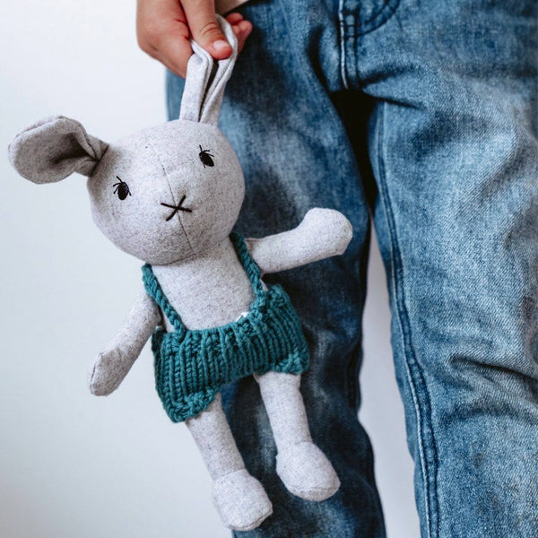 Lionel the Rabbit - handmade felted wool toy Toys and the little dog laughed