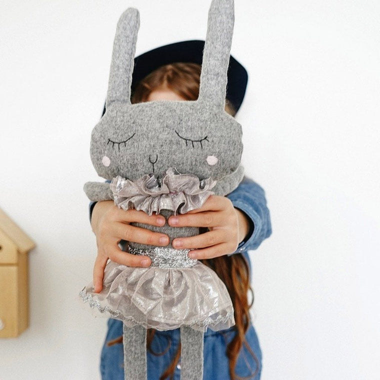 Lola Rabbit- handmade felted wool toy