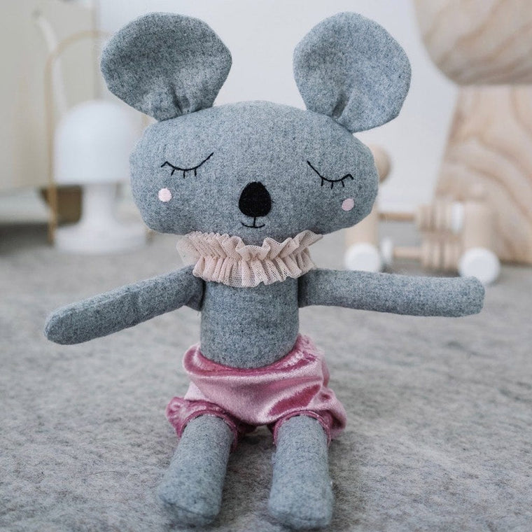 Mabel Mouse - handmade felted wool toy