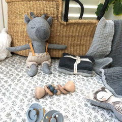 Rudy Giraffe - handmade felted wool toy Toys and the little dog laughed