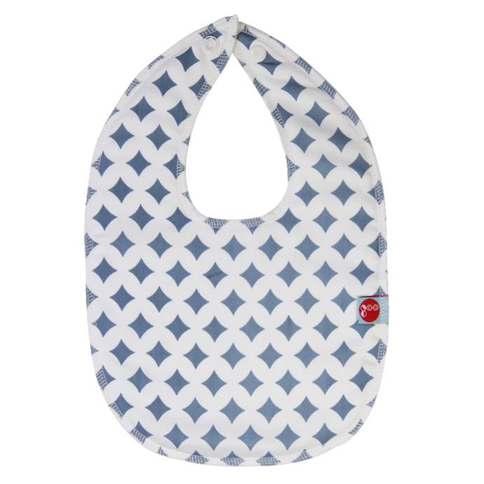 Goo Organic Cotton Baby Bib - Blue Lattice