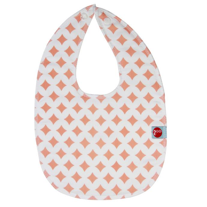 Goo Organic Cotton Baby Bib - Pink Lattice