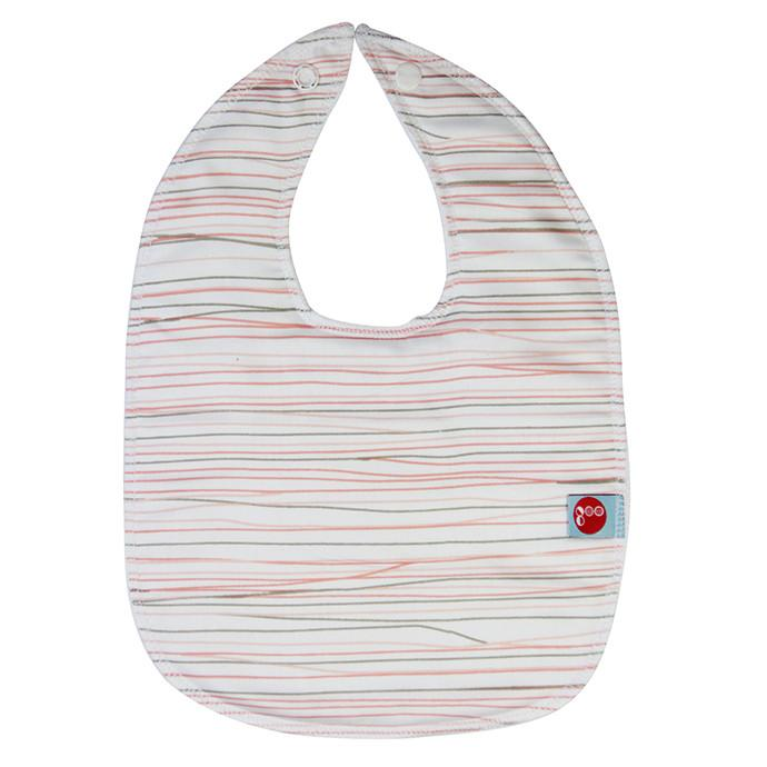 Goo Organic Cotton Baby Bib - Pencil Lines Pink