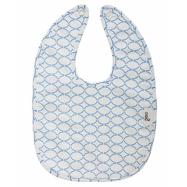 Goo Organic Cotton Baby Bib - Clear Skies Blue - Ecosprout - New Zealand