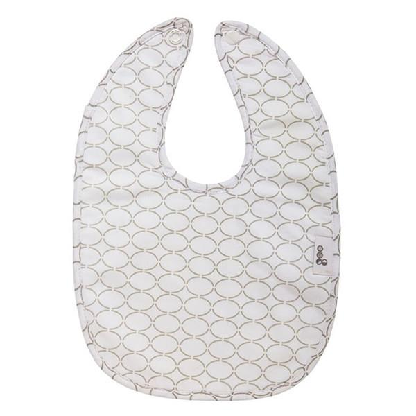 Goo Organic Cotton Baby Bib - Clear Skies Grey - Ecosprout - New Zealand