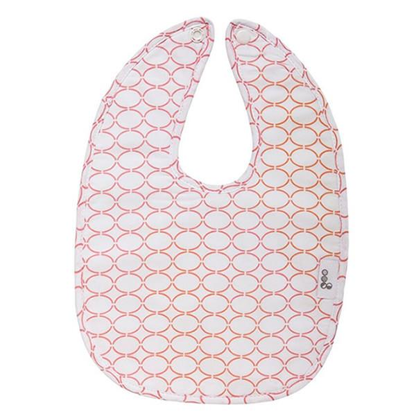 Goo Organic Cotton Baby Bib - Clear Skies Pink - Ecosprout - New Zealand