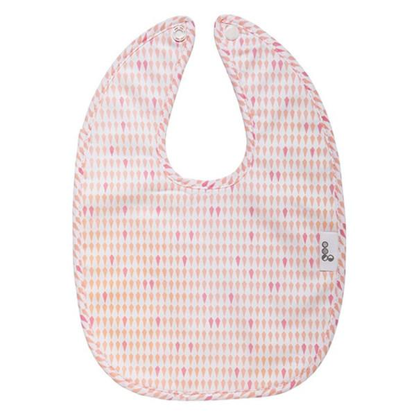 Goo Organic Cotton Baby Bib - Harlequin Pink - Ecosprout - New Zealand
