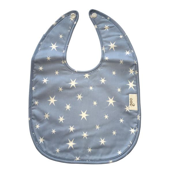 Goo Organic Cotton Baby Bib - Starry Night Blue - Ecosprout - New Zealand