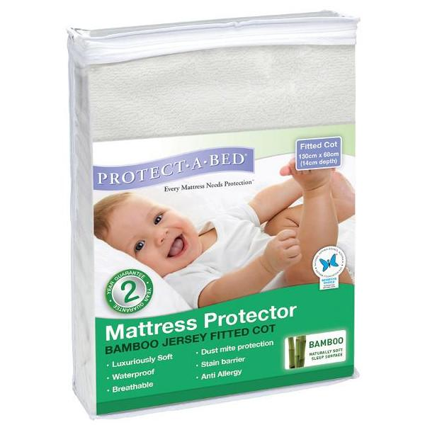 Protect A Bed Cot USA Bamboo Jersey Fitted