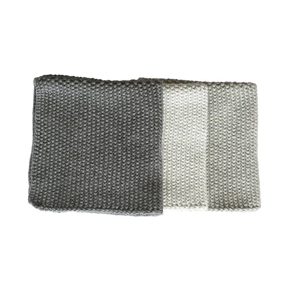 Lavette Washcloths (Set of 3): Grey
