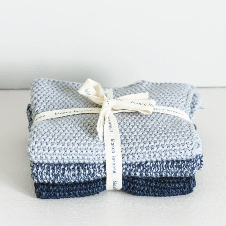 Lavette Washcloths (Set of 3): Indigo
