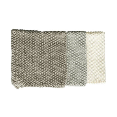Lavette Washcloths (Set of 3): Taupe
