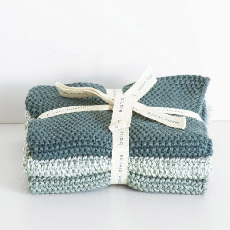 Lavette Washcloths (Set of 3): Teal