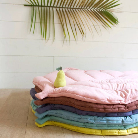 Jersey Cotton Leaf Playmat : Citron Blabla