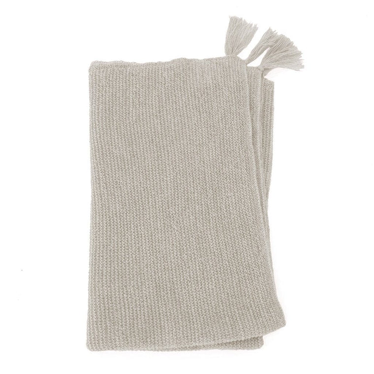 Organic Alpaca Wool Baby Blanket : Soft Grey