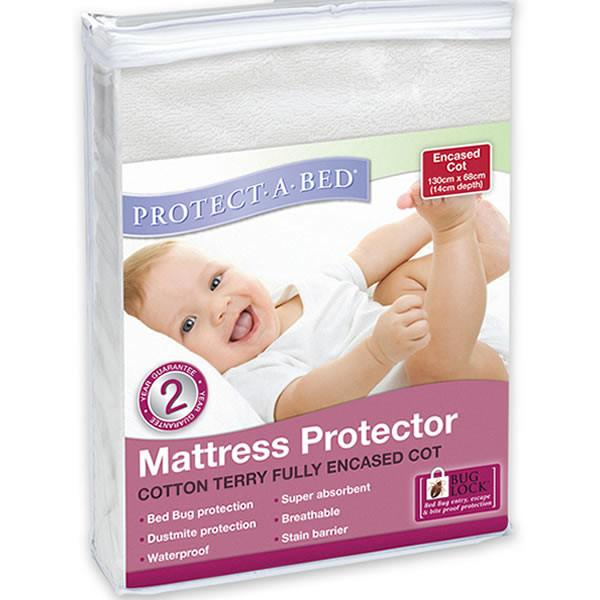 Protect A Bed Cot USA Std Terry Fully Encased