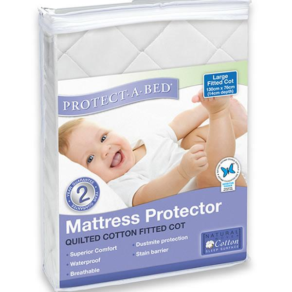 Protect A Bed Cot Universal Cotton Quilted Fitted
