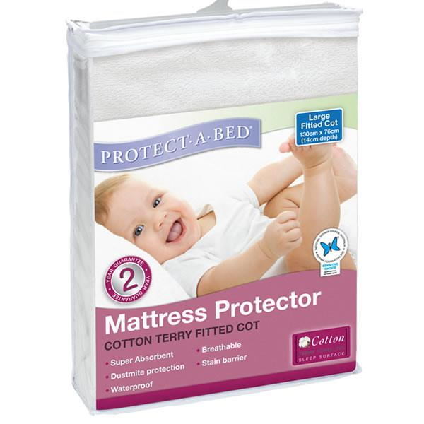 Protect A Bed Cot Universal Cotton Terry Fitted