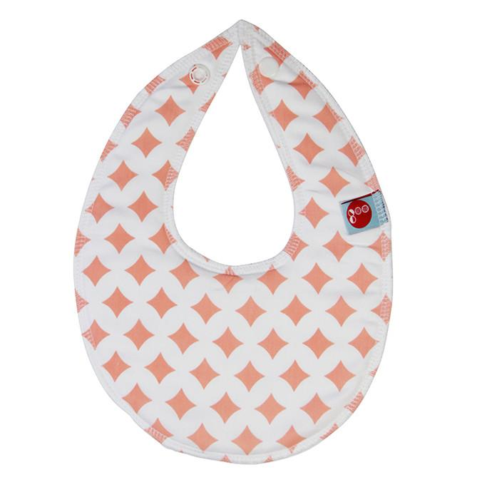 Goo Organic Cotton Dribble Bib - Pink Lattice - Ecosprout - New Zealand