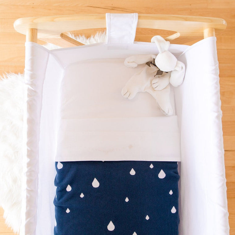 Reversible Cotton Baby Blanket - RAINDROP Orion Blue