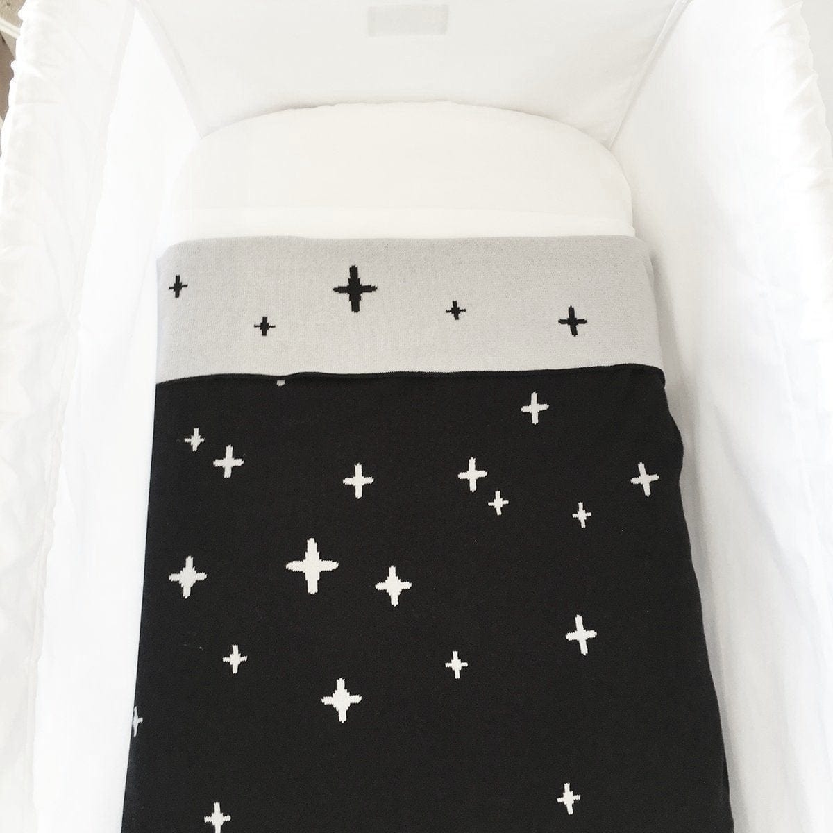 Ecosprout Reversible Cotton Baby Blanket - CROSS Night Sky - Ecosprout - New Zealand