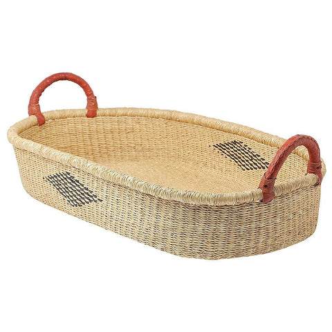 African Changing Basket - Diamond with Tan Handles