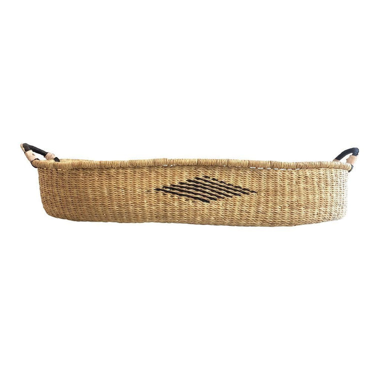 African Changing Basket - Diamond with Black Handles