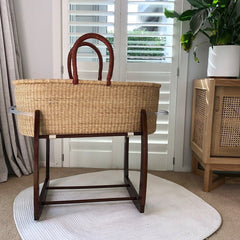 African Moses Basket Rocking Stand : Chocolate Nursery Ecosprout