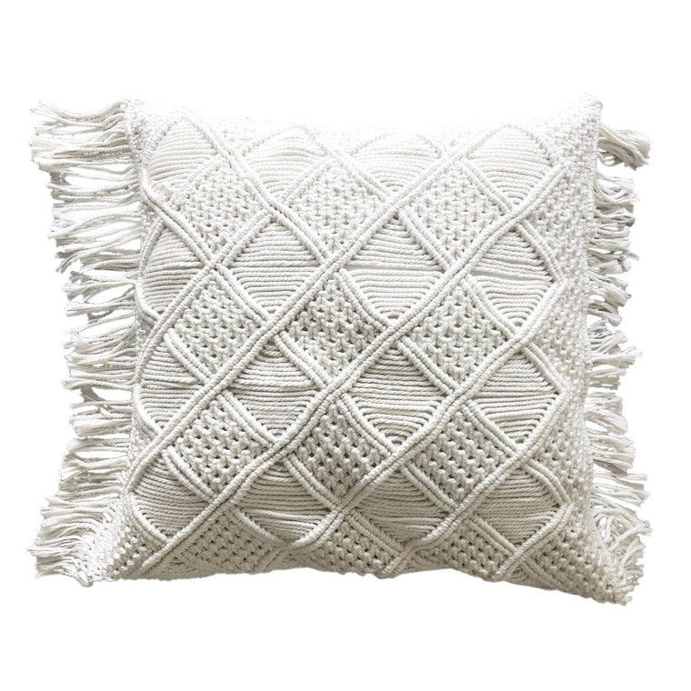 Boho Macrame Cushion – Natural 50cms