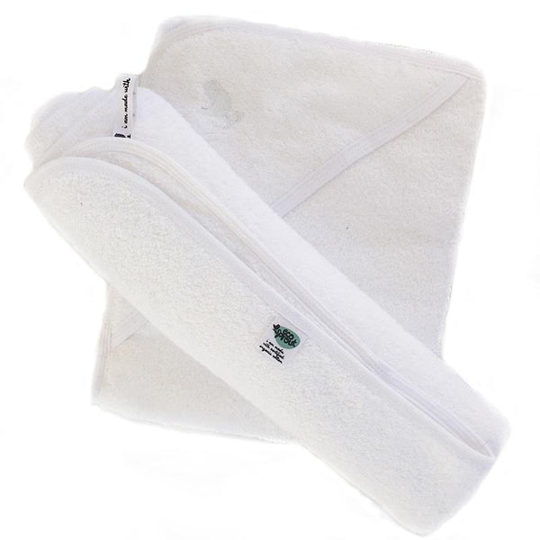 Organic Hooded Baby Bath Towels - 2 Pack