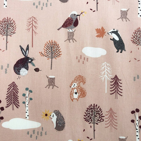Organic Change Pad Sheet : Forest Friends Pink Sheet Ecosprout