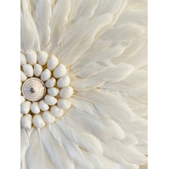 Feather Wall Art 55cm : White Wallhangings Ecosprout