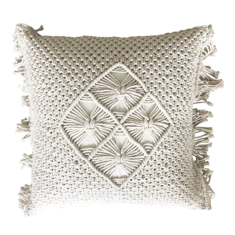 Icon Macrame Cushion - Natural 50cms