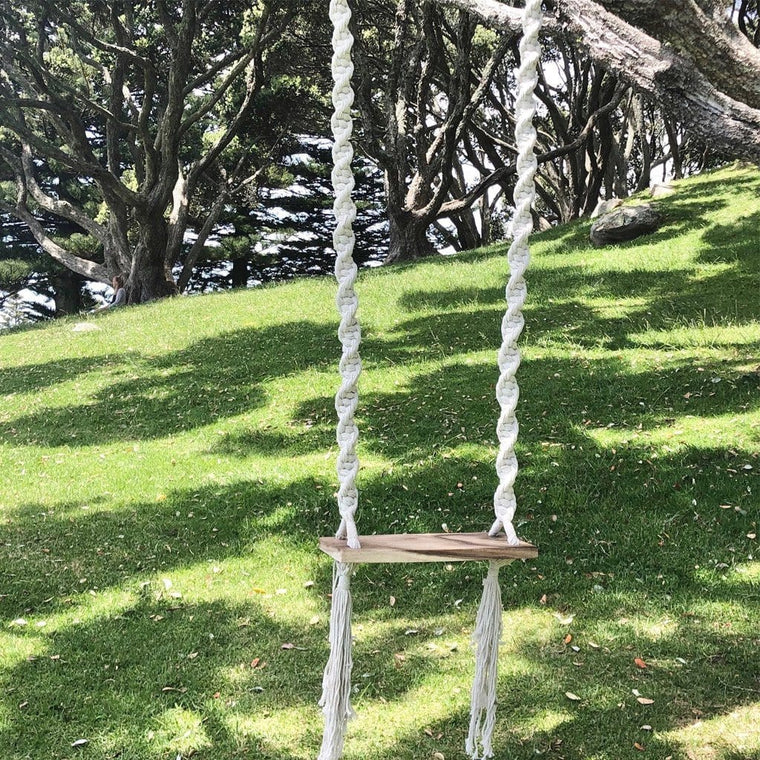 Kids Summer Breeze Macrame Wooden Swing