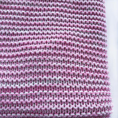 Cotton Knitted Cot Blanket : Watermelon Pink Marle Blanket Goo
