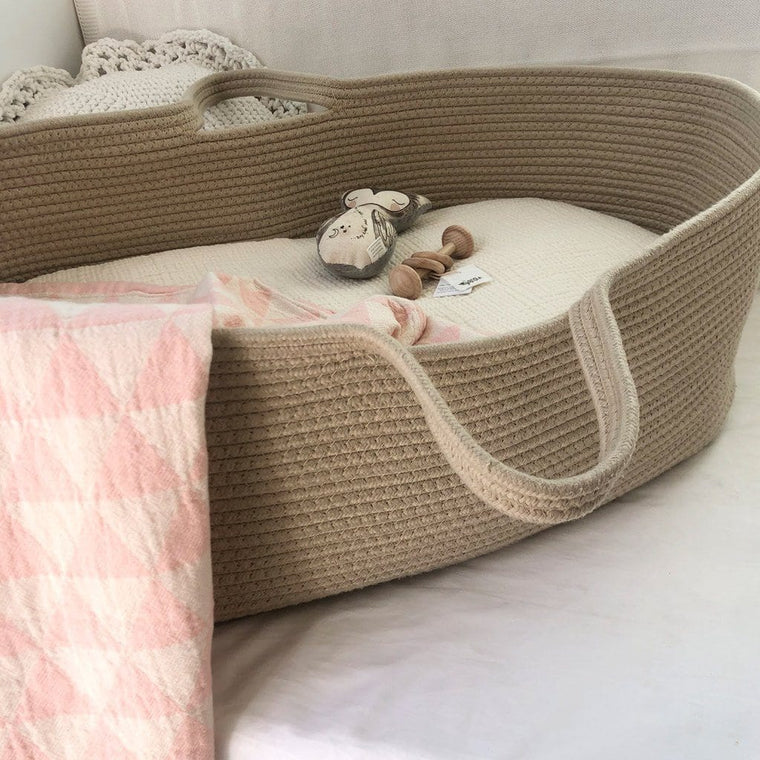 Cotton Moses Basket : Natural