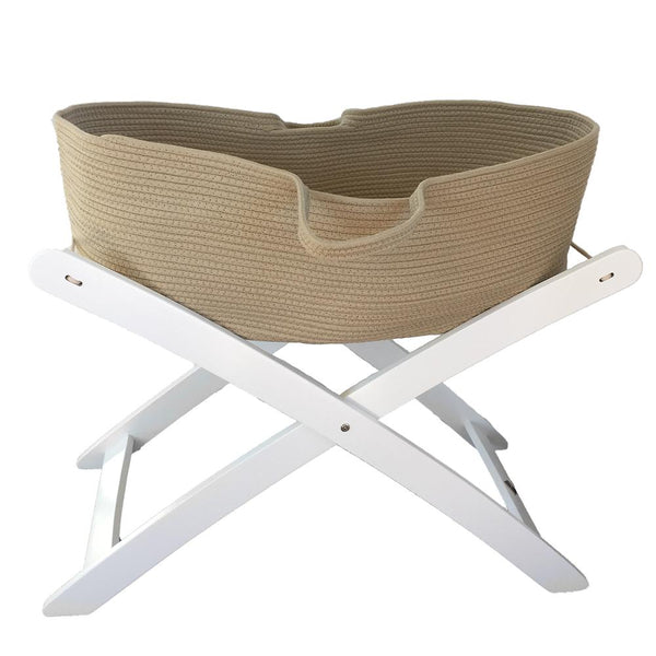 Cotton Moses Basket : Natural Nursery Ecosprout