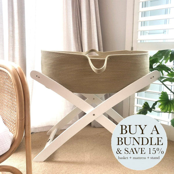 Bundle | Cotton Moses Basket - Natural Nursery Ecosprout